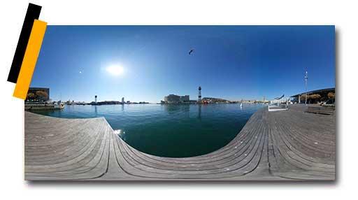 360-Port-Vell-Maremagnum-Barcelona Imágenes y vídeos 360