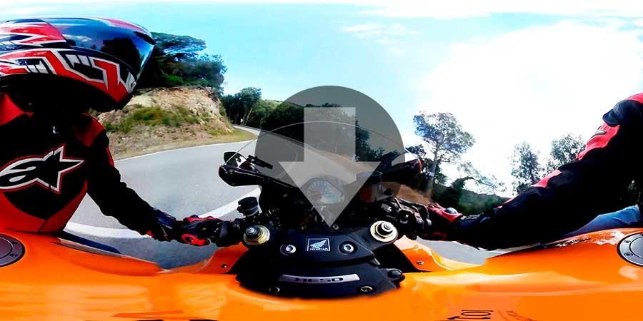 Descargar-video-360-gratis-Conducción-de-Moto-Honda-CBR-1000-MotoGP-con-sonido-Descargas360