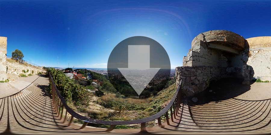 Imagen-360-Barcelona-Skyline-Bunquers-de-El-Carmelo-02