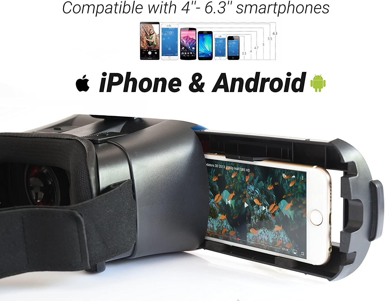 BNext Gafas de Realidad Virtual VR 360 Azules compatibilidad