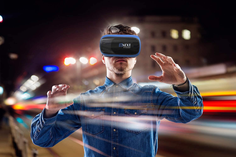 BNext Gafas de Realidad Virtual VR 360 Azules mejores graficos