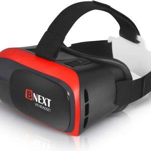 BNext Gafas de Realidad Virtual VR 360 Rojo