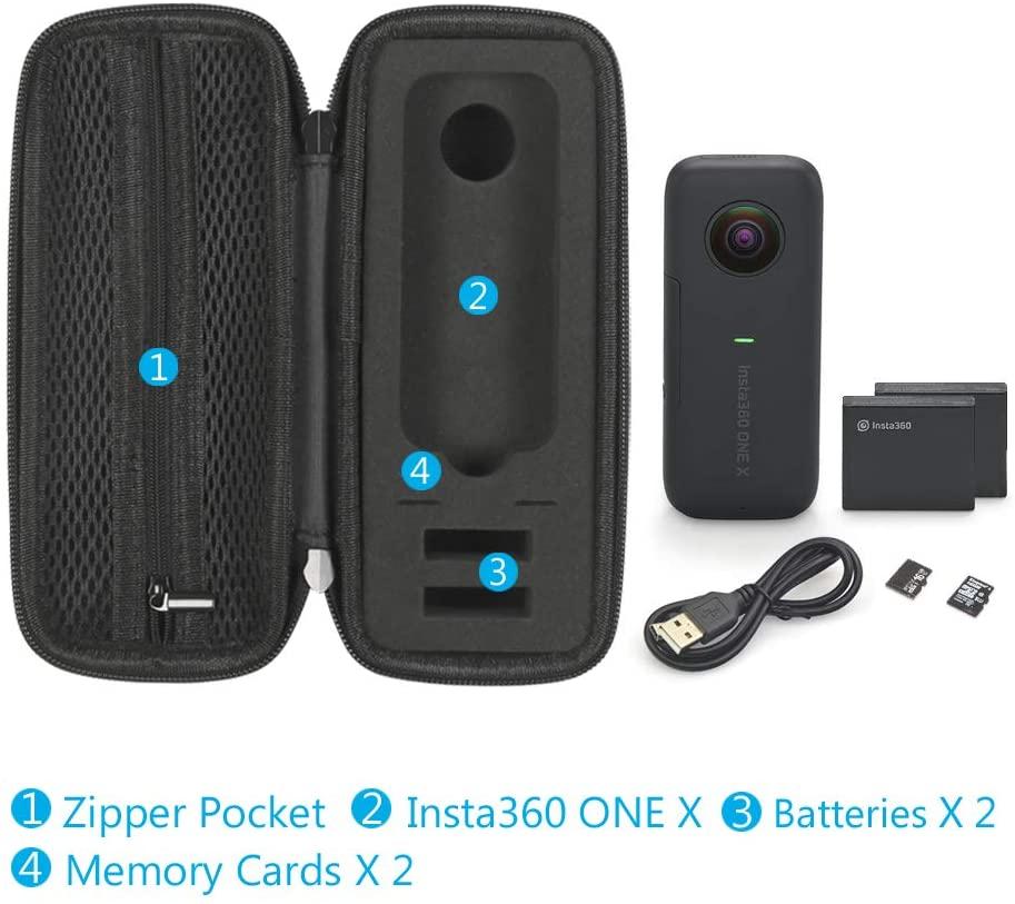 estuche para cámara insta 360 Estuche portátil para Insta360 One X capacidad