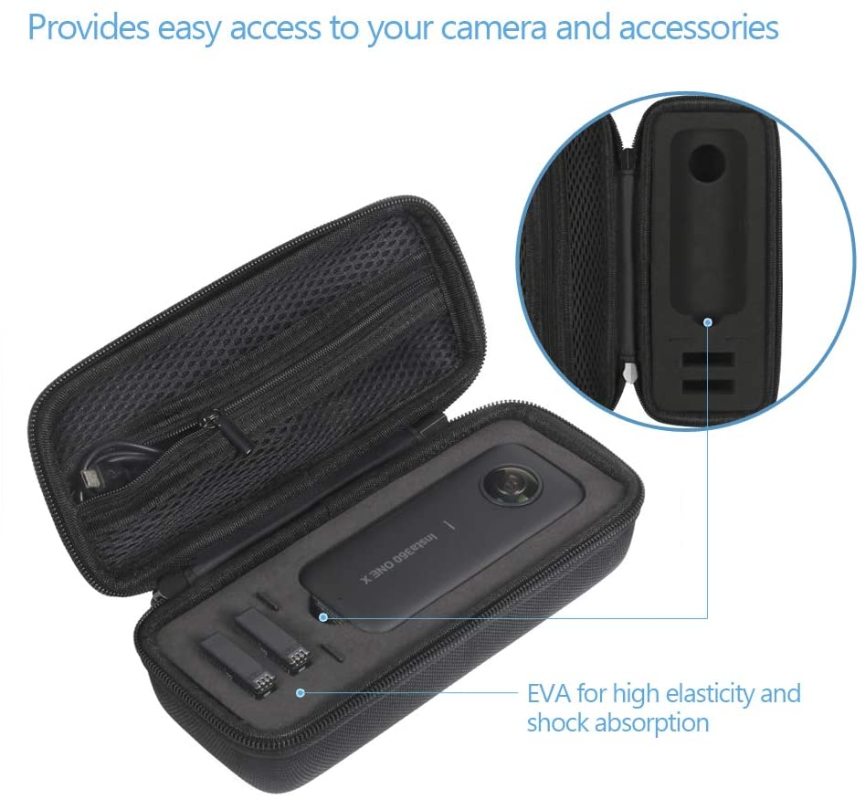 estuche para cámara insta 360 Estuche portátil para Insta360 One X interior