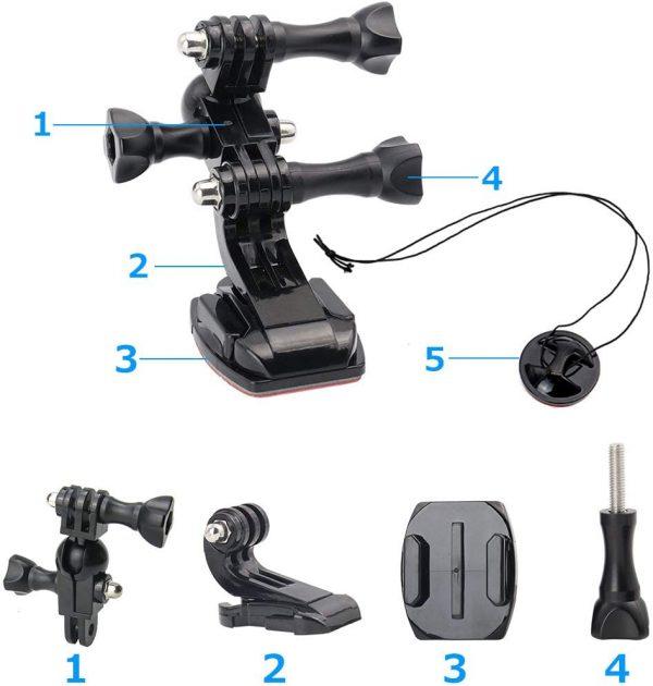 Adaptador de cámara 360 para casco