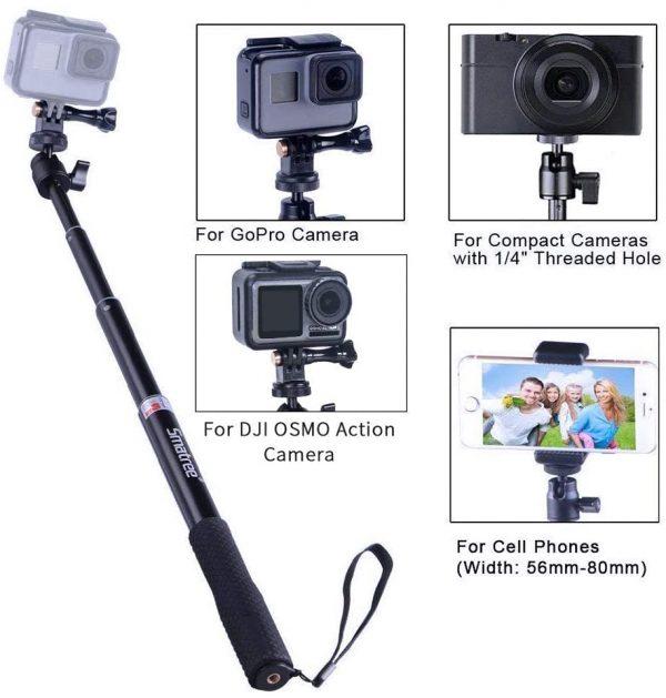 Compatible con todo tipo de cámaras y smartphones