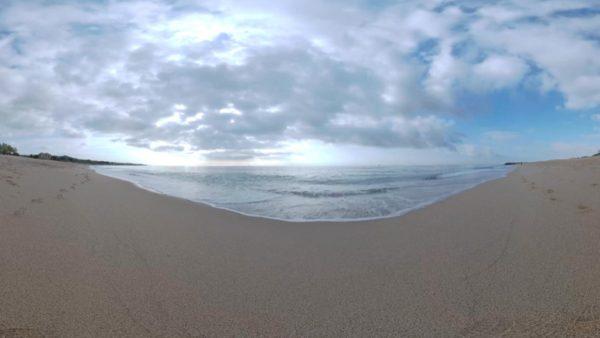 Vídeo en 360 grados desde una playa