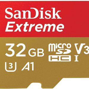 MicroSD Sandisk-extreme-32gb-hcI-v30-3-a1-descargas360