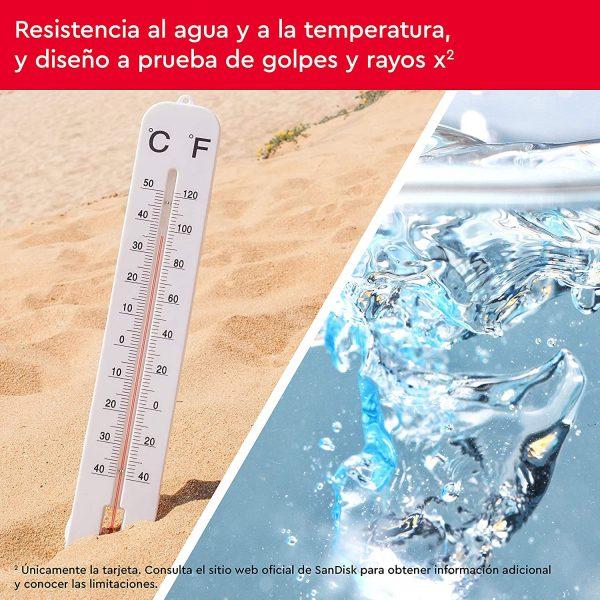Resistente al agua y a altas temperaturas descargas360