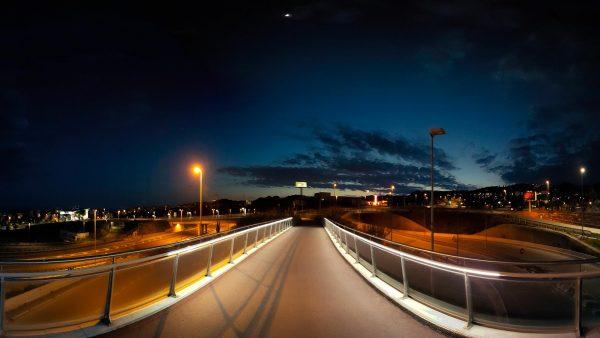 Foto 360 Pasarela sobre autopista