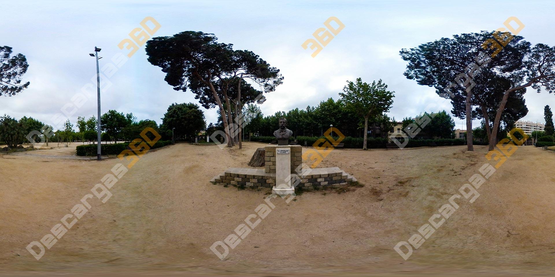 Busto en parque - FOTO 360 Naturaleza - Descargas 360 grados
