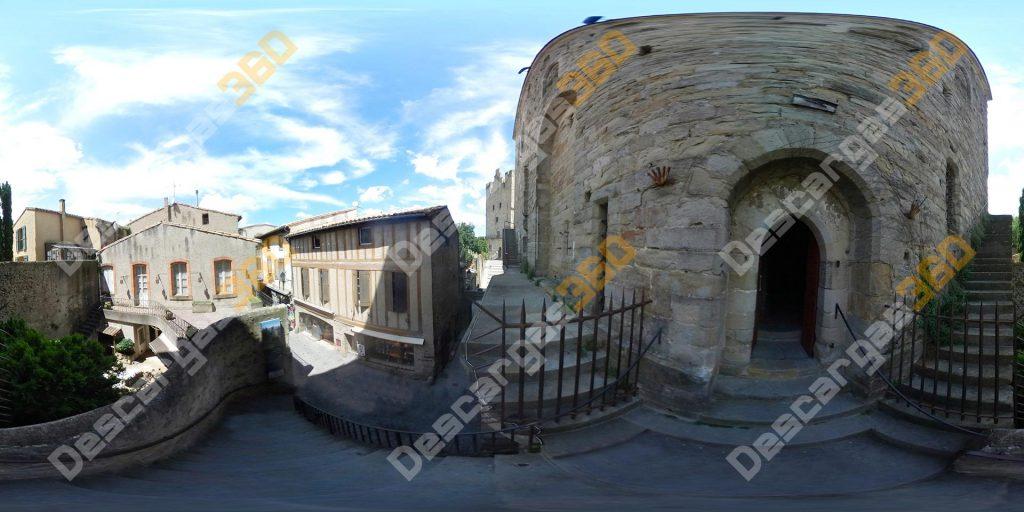 Castillo-francés-360-Escaleras-torre-Carcassonne---Descargas360
